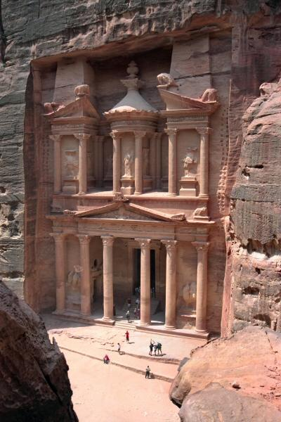 Treasury in Petra, Jordanië