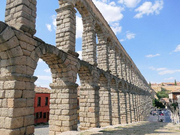Aquaduct in Segovia, Spanje